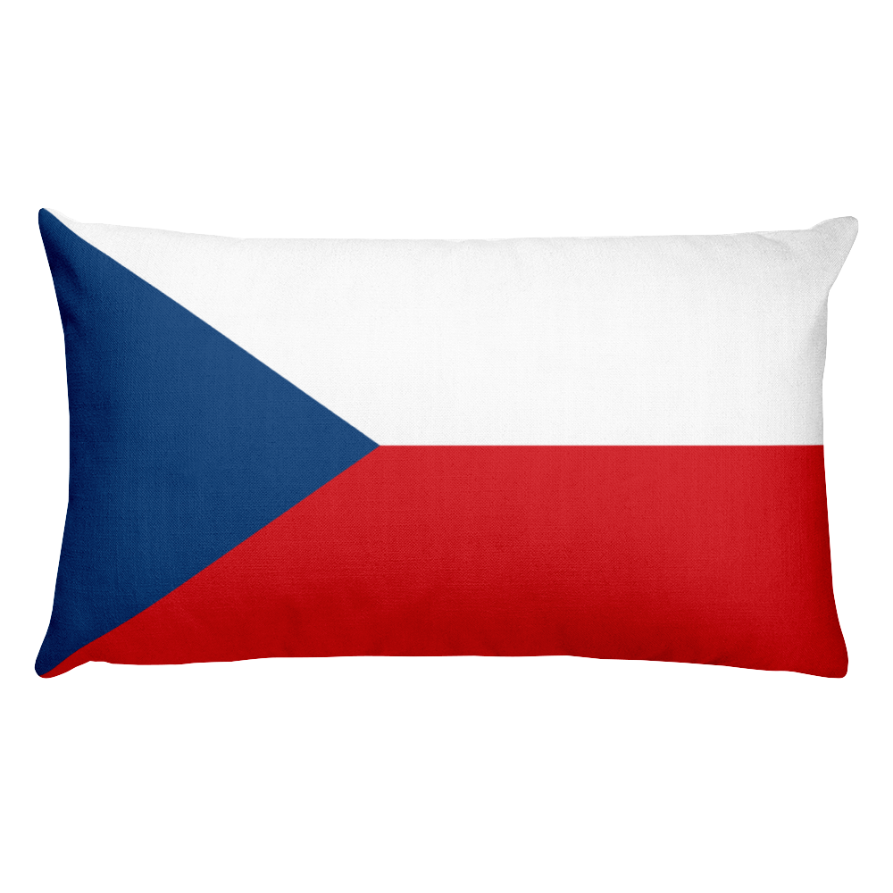 Czech Republic Flag Allover Print Rectangular Pillow