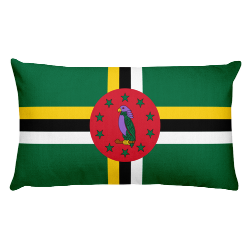 Default Title Dominica Flag Allover Print Rectangular Pillow Home by Design Express