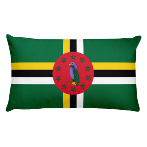 Dominica Flag Allover Print Rectangular Pillow