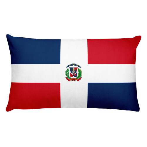 Default Title Dominican Republic Flag Allover Print Rectangular Pillow Home by Design Express