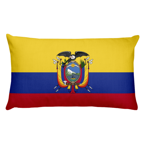 Default Title Ecuador Flag Allover Print Rectangular Pillow Home by Design Express
