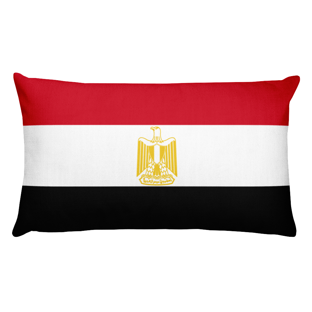 Egypt Flag Allover Print Rectangular Pillow