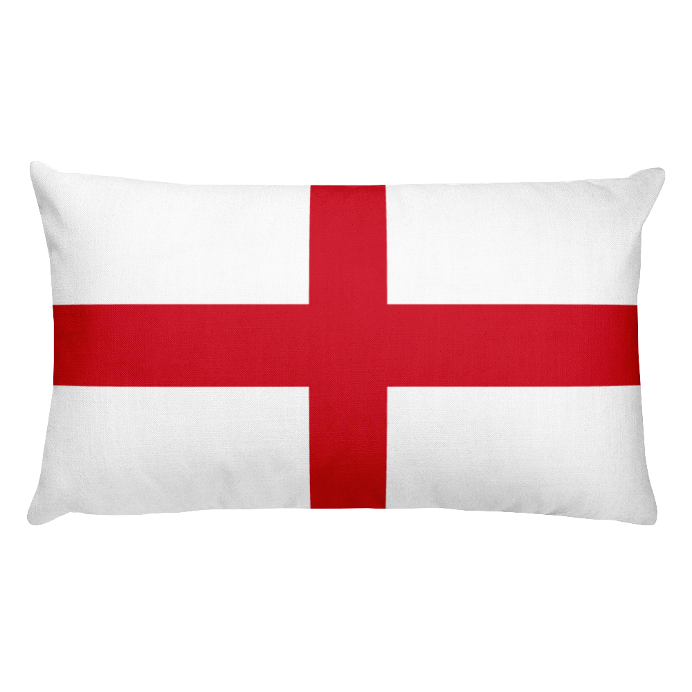 Default Title England Flag Allover Print Rectangular Pillow Home by Design Express