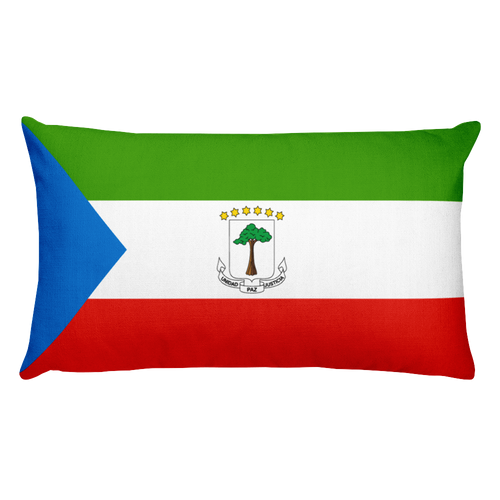 Default Title Equatorial Guinea Flag Allover Print Rectangular Pillow Home by Design Express