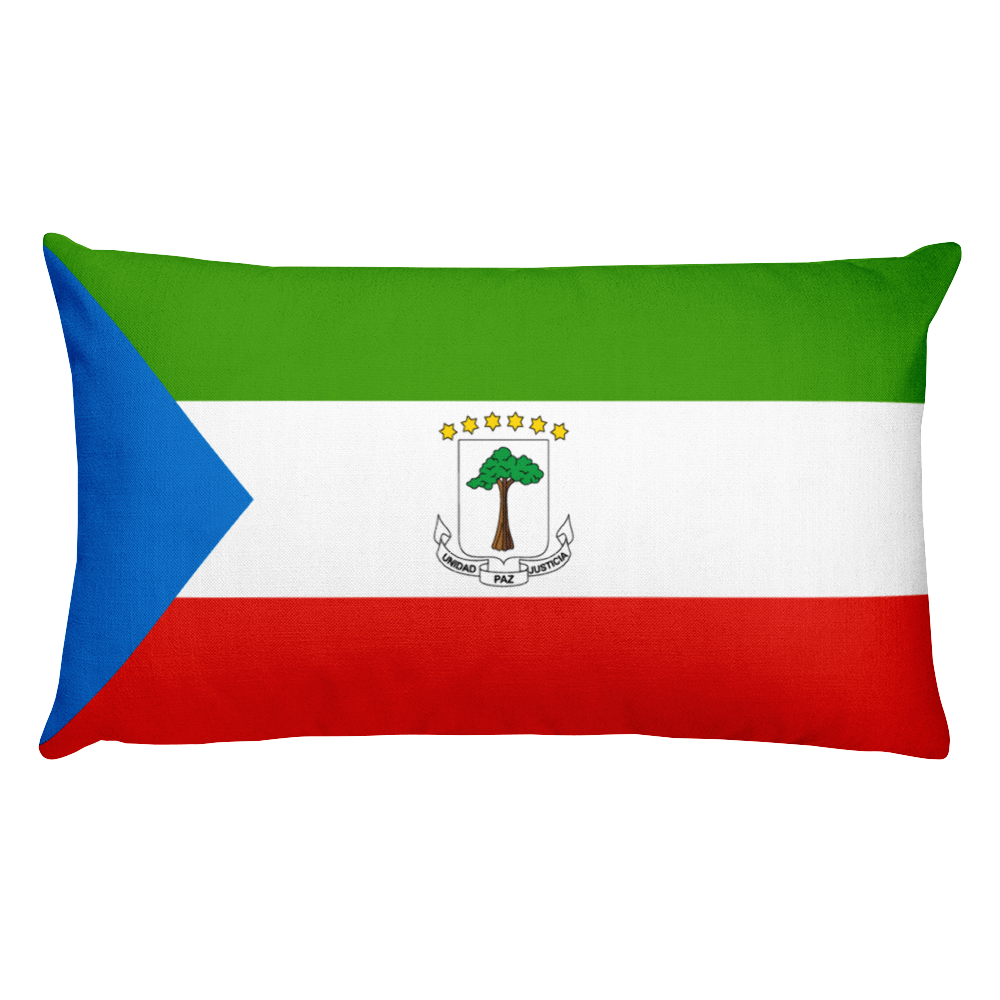 Equatorial Guinea Flag Allover Print Rectangular Pillow