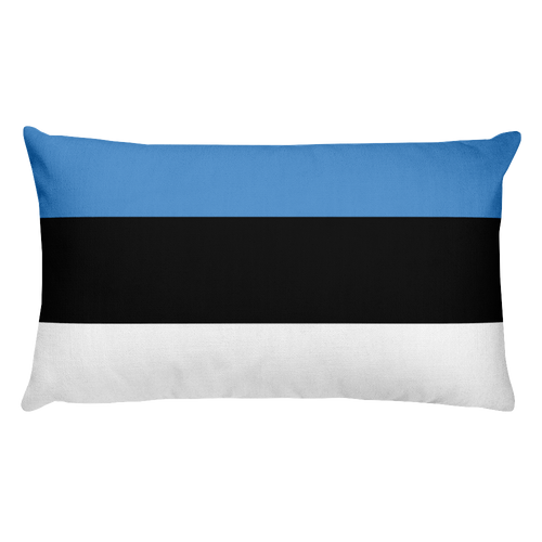 Default Title Estonia Flag Allover Print Rectangular Pillow Home by Design Express