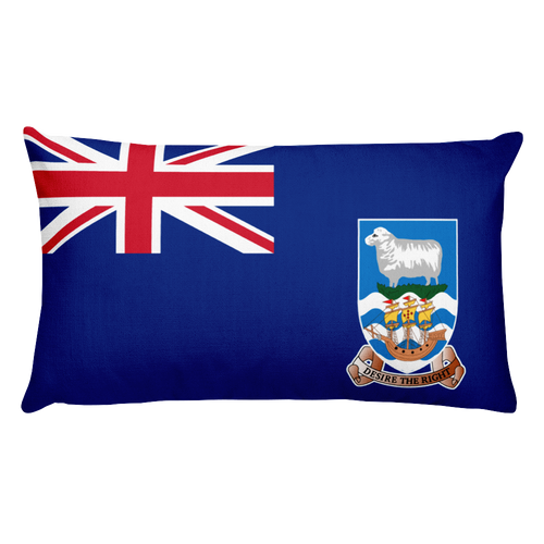 Default Title Falkland Islands Flag Allover Print Rectangular Pillow Home by Design Express