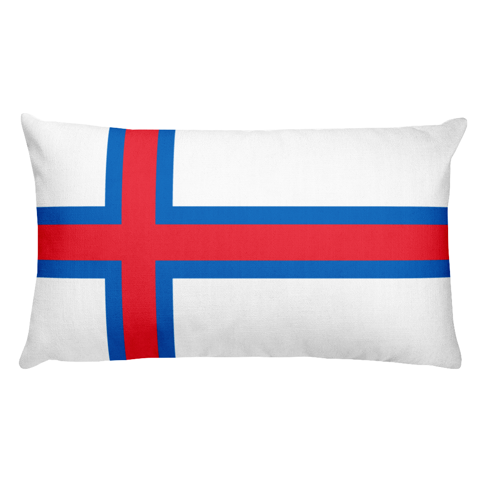 Default Title Faroe Islands Flag Allover Print Rectangular Pillow Home by Design Express