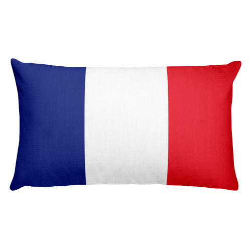 Default Title France Flag Allover Print Rectangular Pillow Home by Design Express
