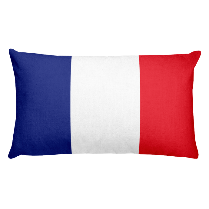 France Flag Allover Print Rectangular Pillow