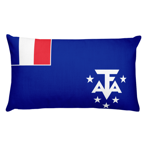 Default Title French Southern and Antarctic Lands Flag Allover Print Rectangular Pillow Home by Design Express