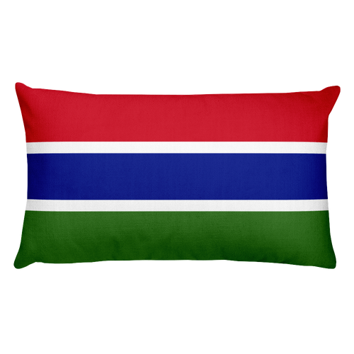 Default Title Gambia Flag Allover Print Rectangular Pillow Home by Design Express