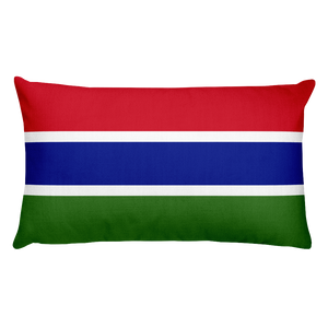 Gambia Flag Allover Print Rectangular Pillow