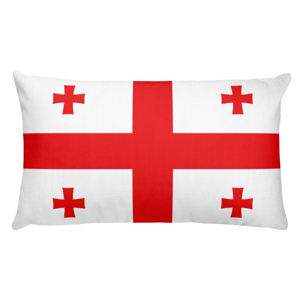 Georgia Flag Allover Print Rectangular Pillow
