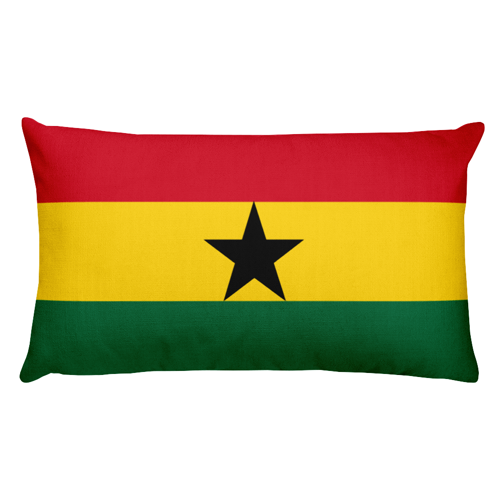 Default Title Ghana Flag Allover Print Rectangular Pillow Home by Design Express