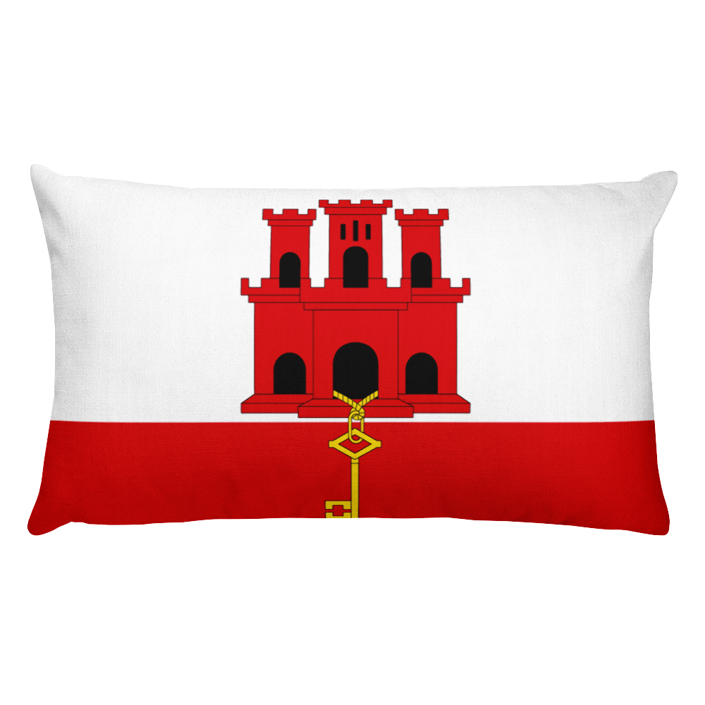 Default Title Gibraltar Flag Allover Print Rectangular Pillow Home by Design Express