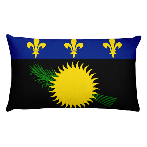Default Title Guadeloupe Flag Allover Print Rectangular Pillow Home by Design Express