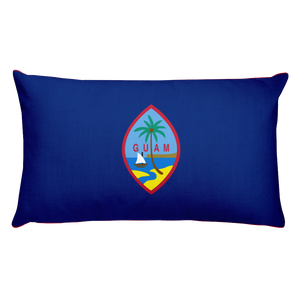 Default Title Guam Flag Allover Print Rectangular Pillow Home by Design Express