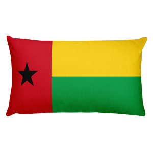 Default Title Guinea Bissau Flag Allover Print Rectangular Pillow Home by Design Express