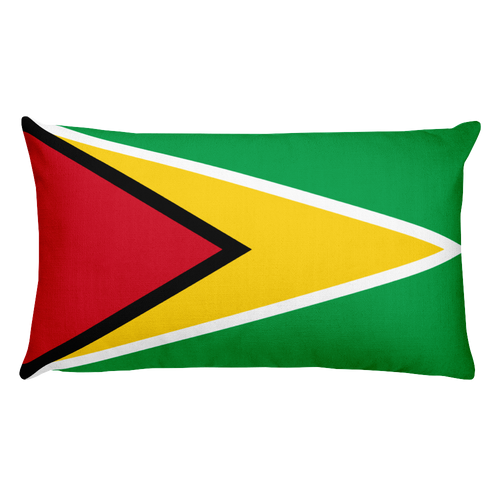 Default Title Guyana Flag Allover Print Rectangular Pillow Home by Design Express
