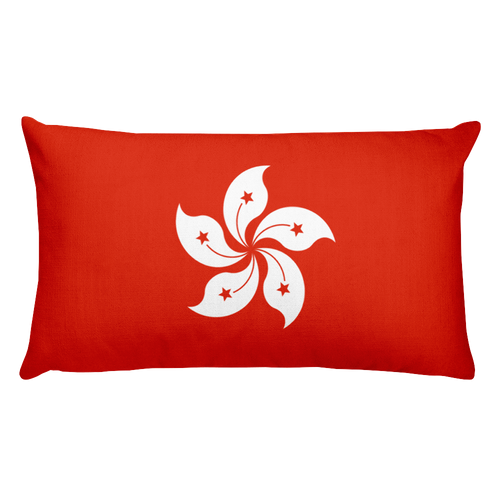 Default Title Hong Kong Flag Allover Print Rectangular Pillow Home by Design Express