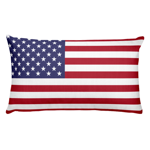 Default Title Howland Island Flag Allover Print Rectangular Pillow Home by Design Express