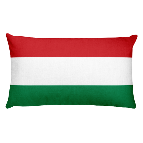 Default Title Hungary Flag Allover Print Rectangular Pillow Home by Design Express