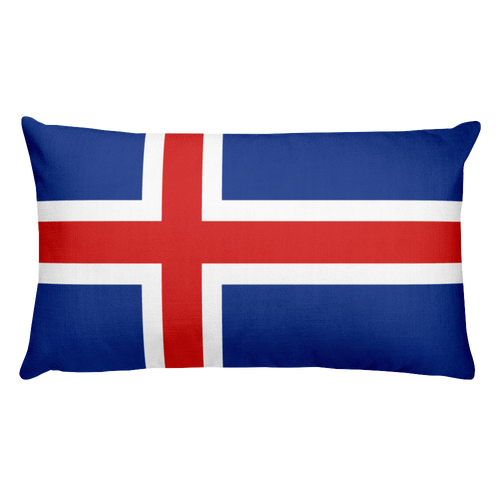 Default Title Iceland Flag Allover Print Rectangular Pillow Home by Design Express