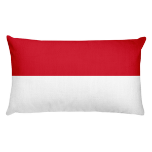 Default Title Indonesia Flag Allover Print Rectangular Pillow Home by Design Express