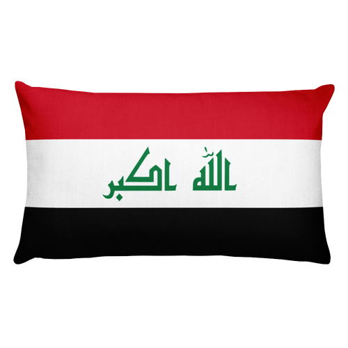 Default Title Iraq Flag Allover Print Rectangular Pillow Home by Design Express