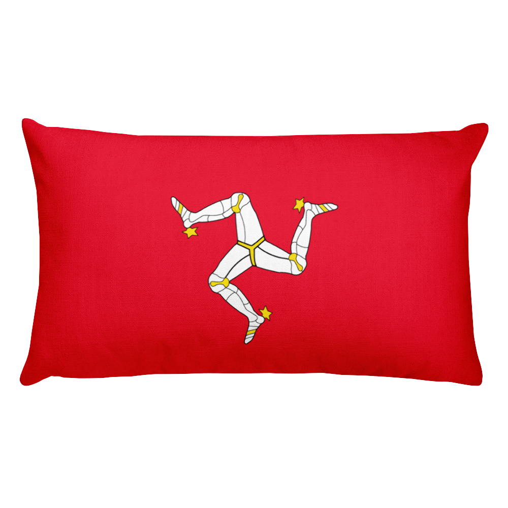 Default Title Isle of Man Flag Allover Print Rectangular Pillow Home by Design Express