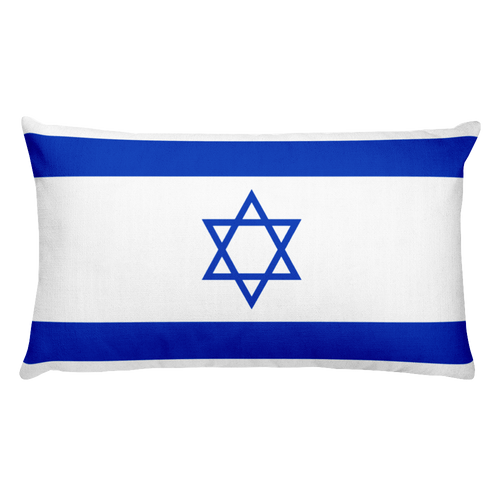 Default Title Israel Flag Allover Print Rectangular Pillow Home by Design Express