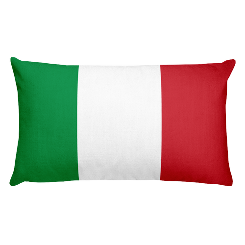 Default Title Italy Flag Allover Print Rectangular Pillow Home by Design Express