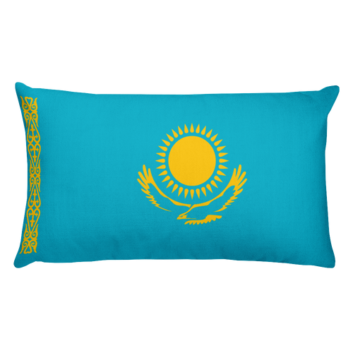 Default Title Kazakhstan Flag Allover Print Rectangular Pillow Home by Design Express