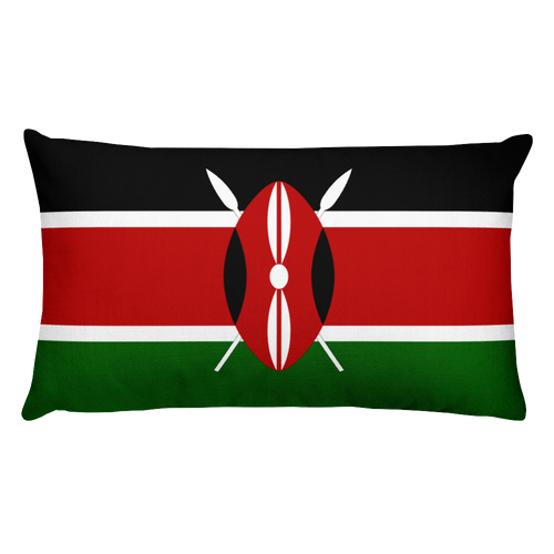 Default Title Kenya Flag Allover Print Rectangular Pillow Home by Design Express