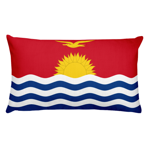 Default Title Kiribati Flag Allover Print Rectangular Pillow Home by Design Express