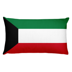 Default Title Kuwait Flag Allover Print Rectangular Pillow Home by Design Express