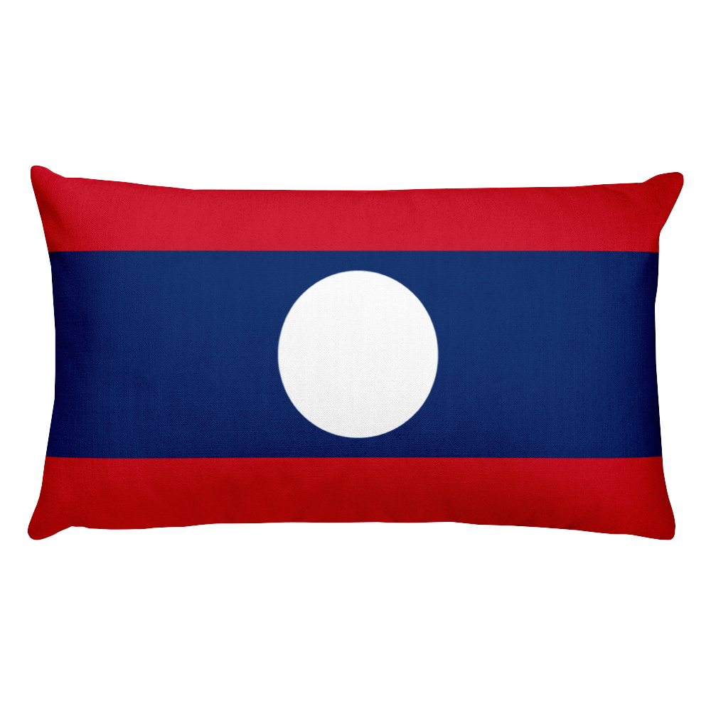 Default Title Laos Flag Allover Print Rectangular Pillow Home by Design Express