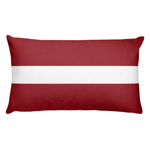Default Title Latvia Flag Allover Print Rectangular Pillow Home by Design Express