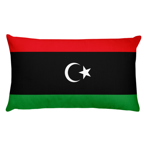 Default Title Libya Flag Allover Print Rectangular Pillow Home by Design Express