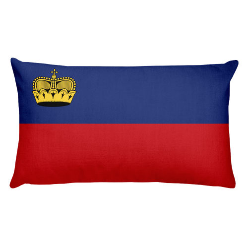 Default Title Liechtenstein Flag Allover Print Rectangular Pillow Home by Design Express
