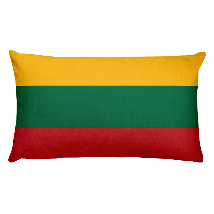 Lithuania Flag Allover Print Rectangular Pillow