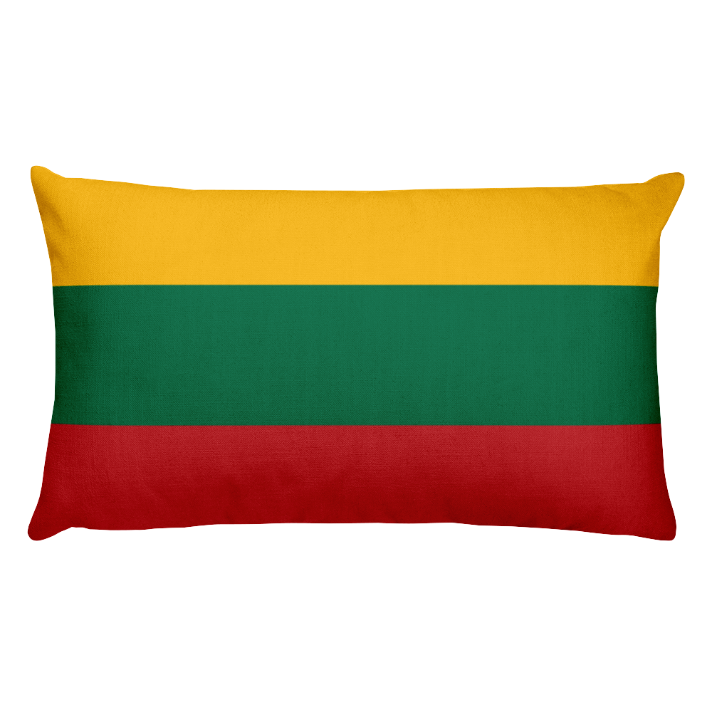Default Title Lithuania Flag Allover Print Rectangular Pillow Home by Design Express