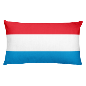 Default Title Luxembourg Flag Allover Print Rectangular Pillow Home by Design Express