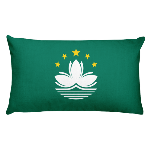 Default Title Macau Flag Allover Print Rectangular Pillow Home by Design Express