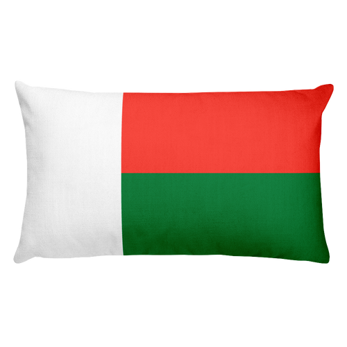 Default Title Madagascar Flag Allover Print Rectangular Pillow Home by Design Express