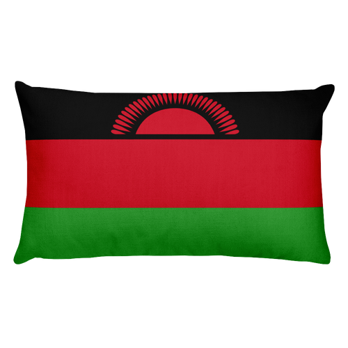 Default Title Malawi Flag Allover Print Rectangular Pillow Home by Design Express