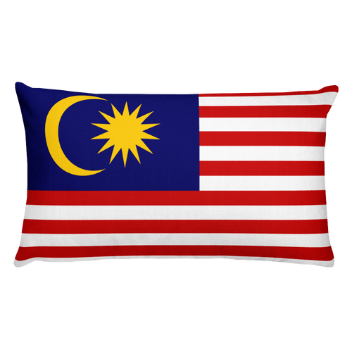 Default Title Malaysia Flag Allover Print Rectangular Pillow Home by Design Express