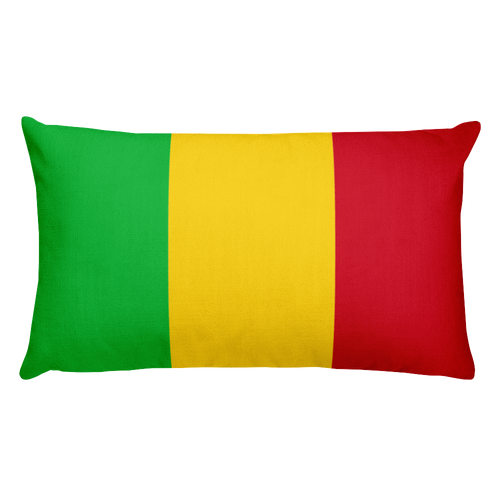 Default Title Mali Flag Allover Print Rectangular Pillow Home by Design Express
