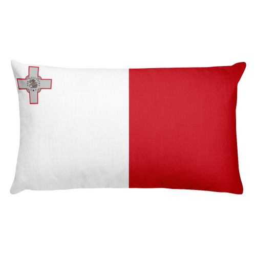 Default Title Malta Flag Allover Print Rectangular Pillow Home by Design Express